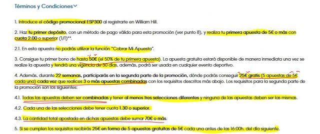 williamhill esp300 bono timobono timo apuesta gratuita freebet combinada 2.1 foronaranja