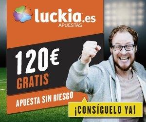 luckia bono bienvenida freebet 120