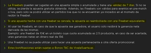 vive la suerte terminos y condiciones bono bienvenida freebet 3 foronaranja