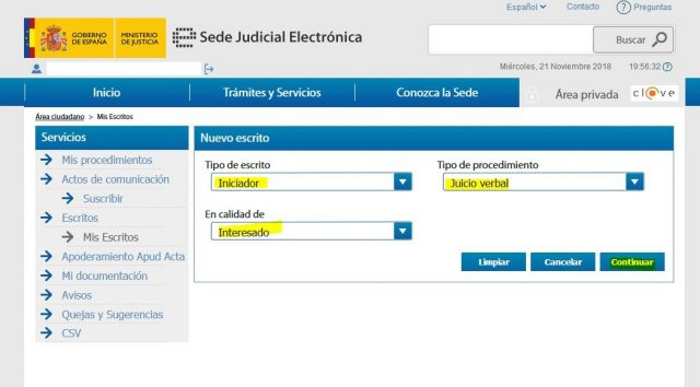 juicio verbal denuncia demanda sede judicial electronica gratis 2000 casa apuesta 9 foronaranja