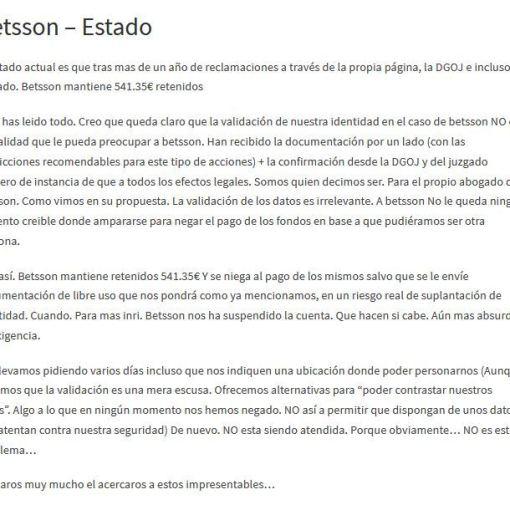 acuerdo extrajudicial betsson 0 foronaranja