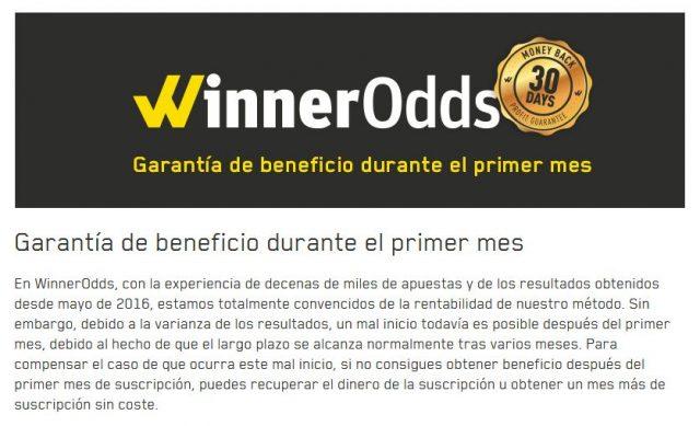 winnerodds apuestas valor valuebet tipster historico total garantia 1 foronaranja