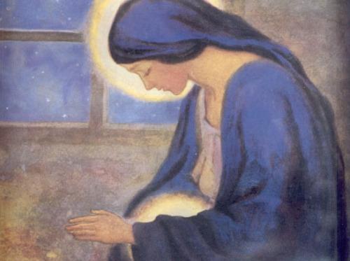 virgen maria adviento