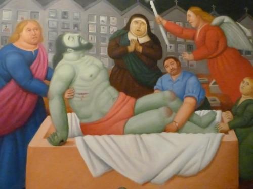 entierro de cristo fernando botero