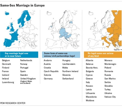 aprobacion del matrimonio gay en europa al 2015