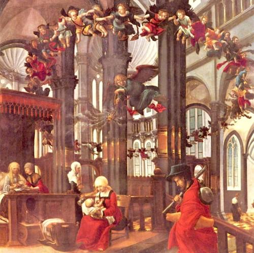 Albrecht natividad de maria fondo