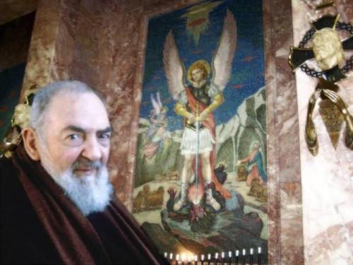 padre pio y arcangel san miguel