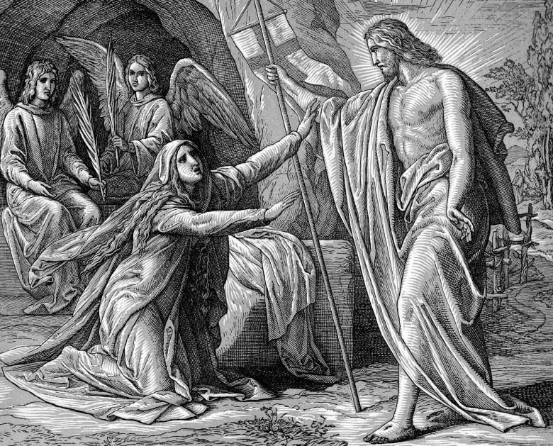 Resultado de imagen para jesus resucitado y las mujeres de jerusalen
