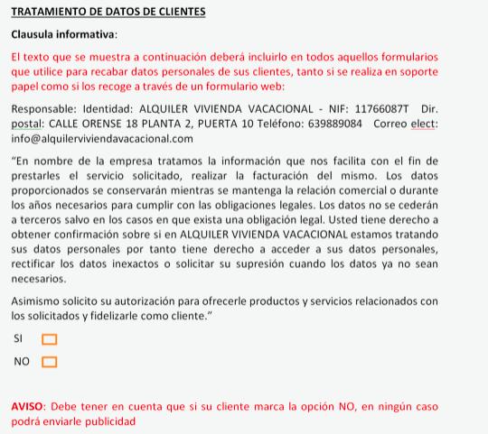 Cláusulas RGPD