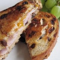 Ham & Cheese on Cinnamon Raisin