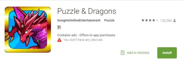puzzle and dragons for pc
