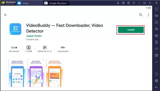 Install VideoBuddy for PC