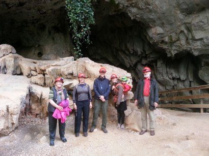 At the cave mouth