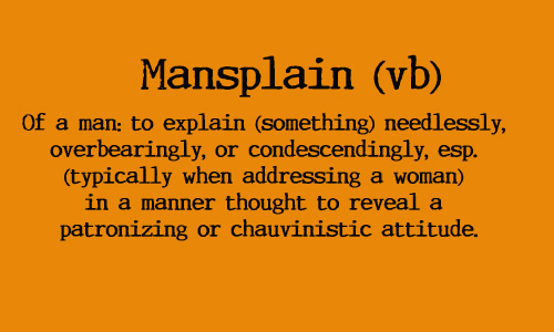 Image result for mansplain