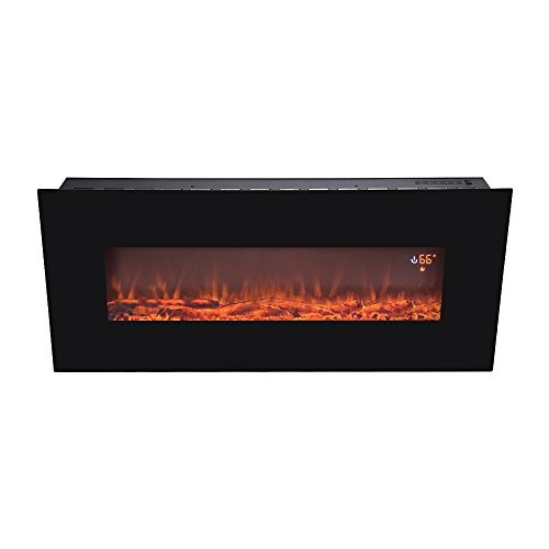 Awe Inspiring Electric Flat Panel Wall Mount Fireplace Heater Home Interior And Landscaping Ponolsignezvosmurscom