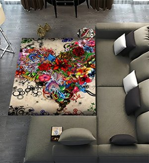 rugs living unique playroom colorful area carpet decoration mat dining floor stars emotions flowers heart forrealdesigns x5