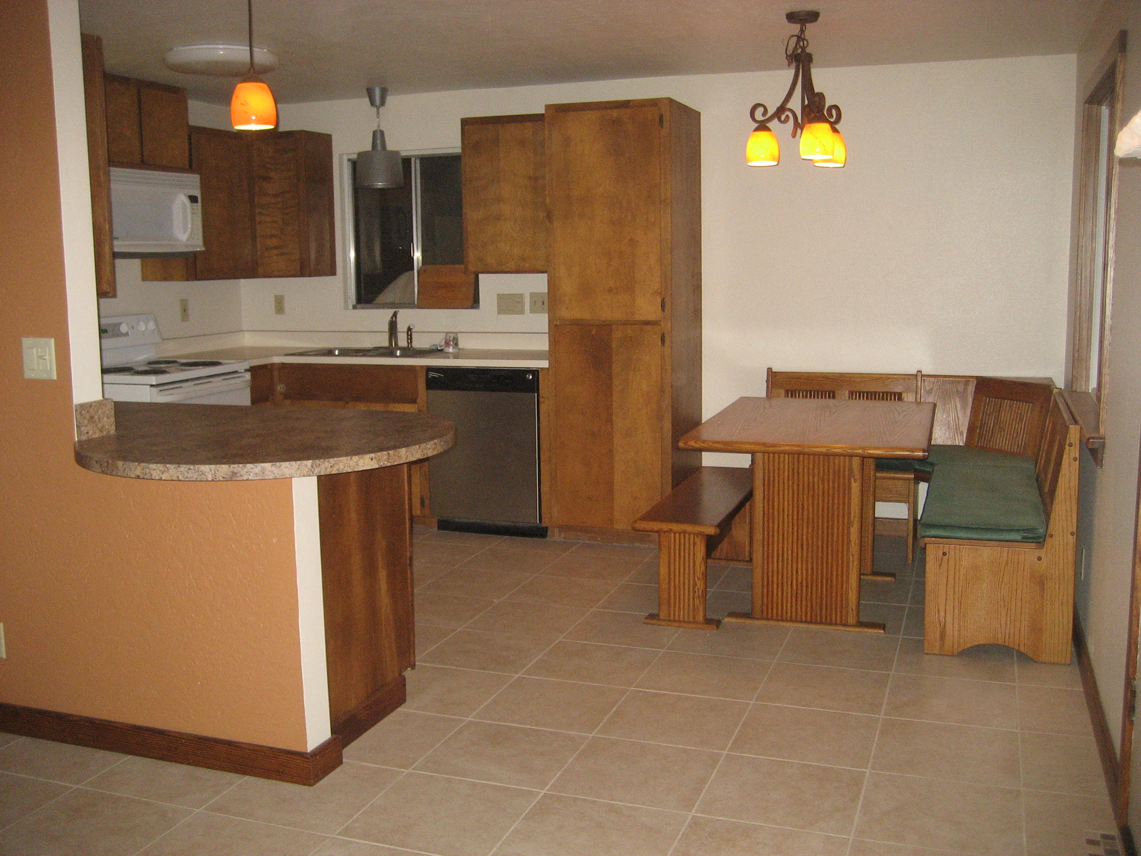 built in kitchen seating wall tile designs