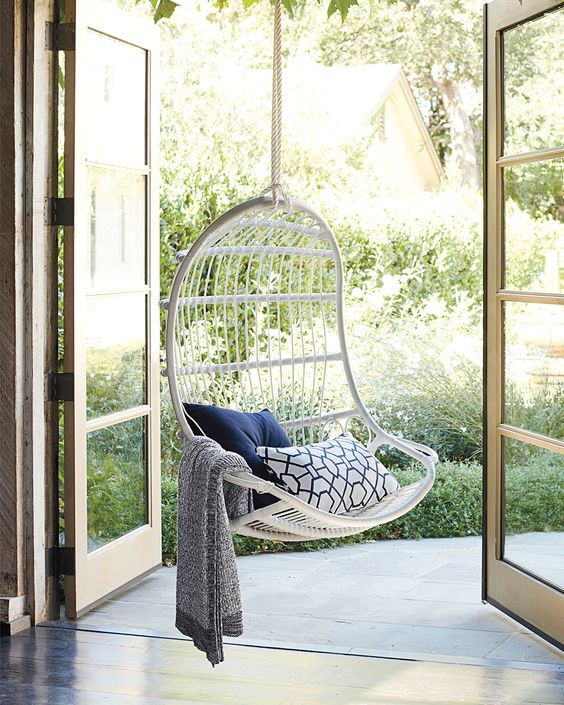 Splurge Vs Save Outdoor Hanging Chairs Modern Porch Swings Forrester Home