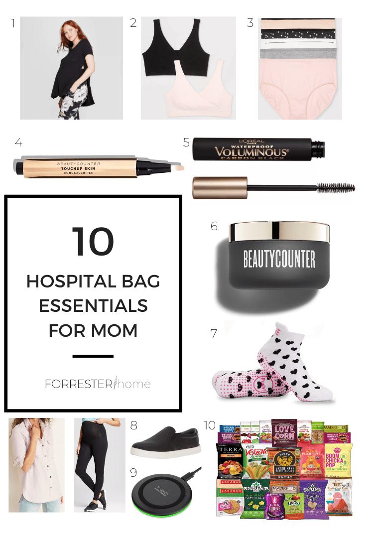 hospital bag essentials mom