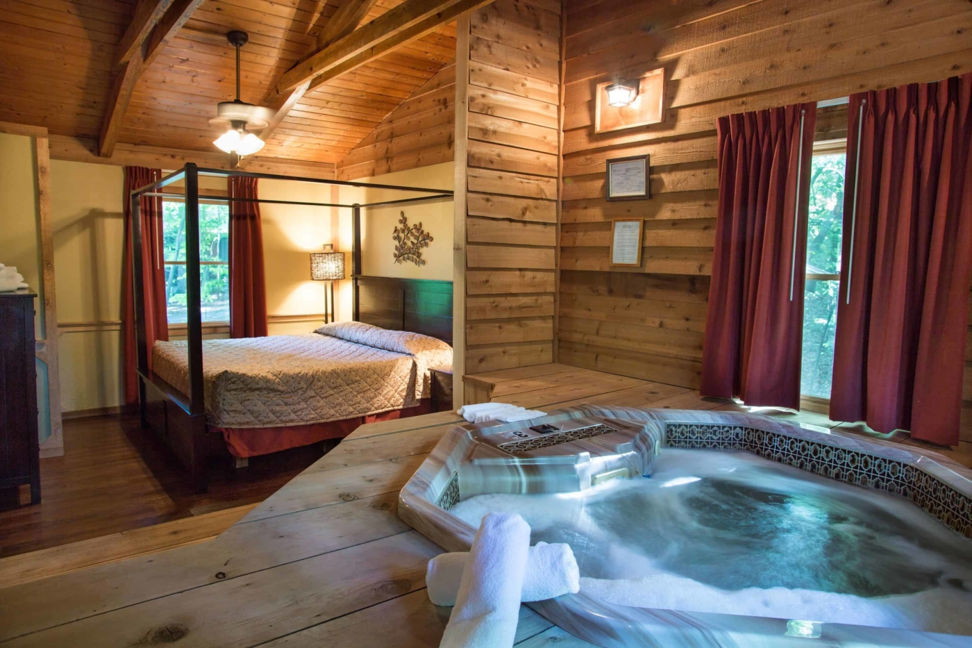 Cabins In Dahlonega  All with hot tub  fireplace at