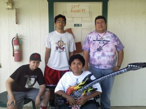Kyle, Amit, Nathan and I at MDA Summer Camp 2009