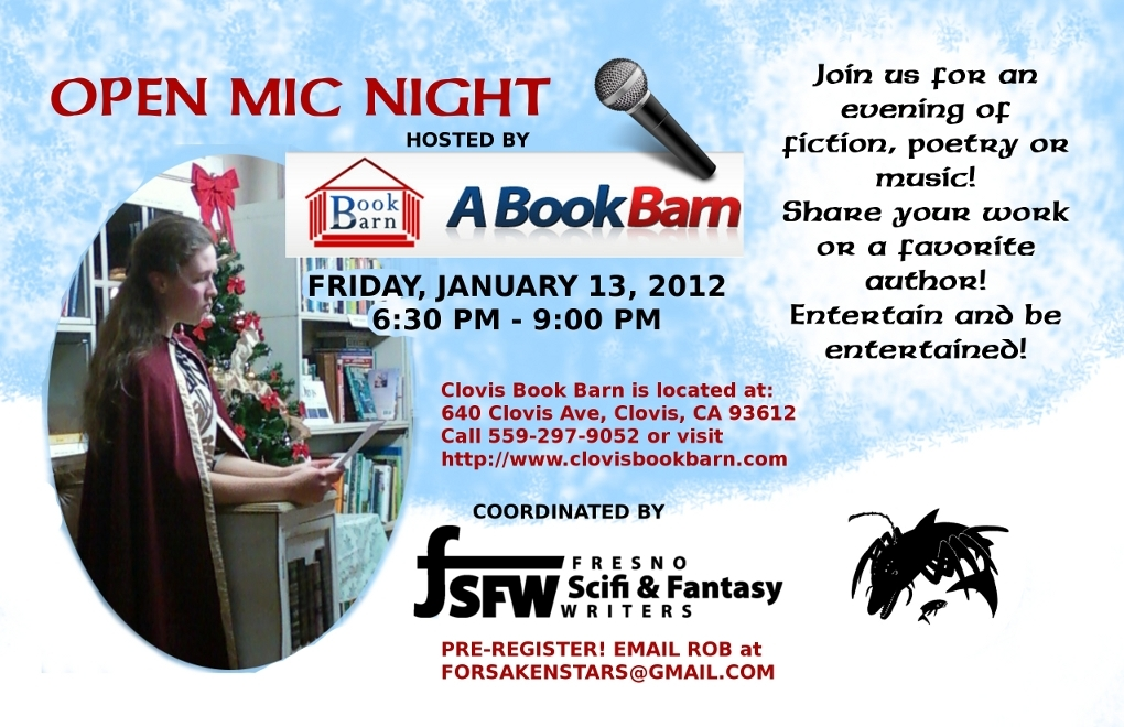 Open Mic Night at the Clovis Book Barn is Back!
