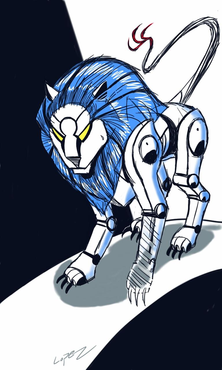 Concept Art – Mechan Lion