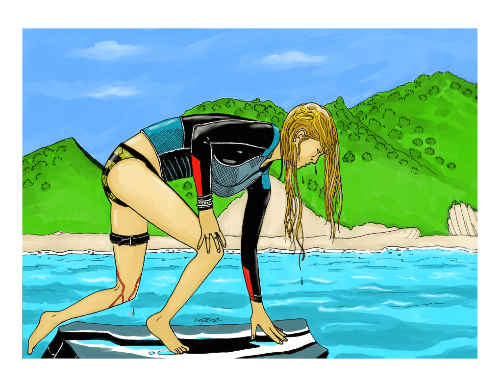Blake Lively from the Shallows