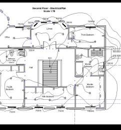 second floor electric drawing [ 1024 x 768 Pixel ]