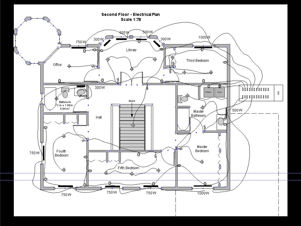 hight resolution of second floor electric drawing