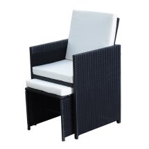 Outsunny 5pc Rattan Wicker Dining Set
