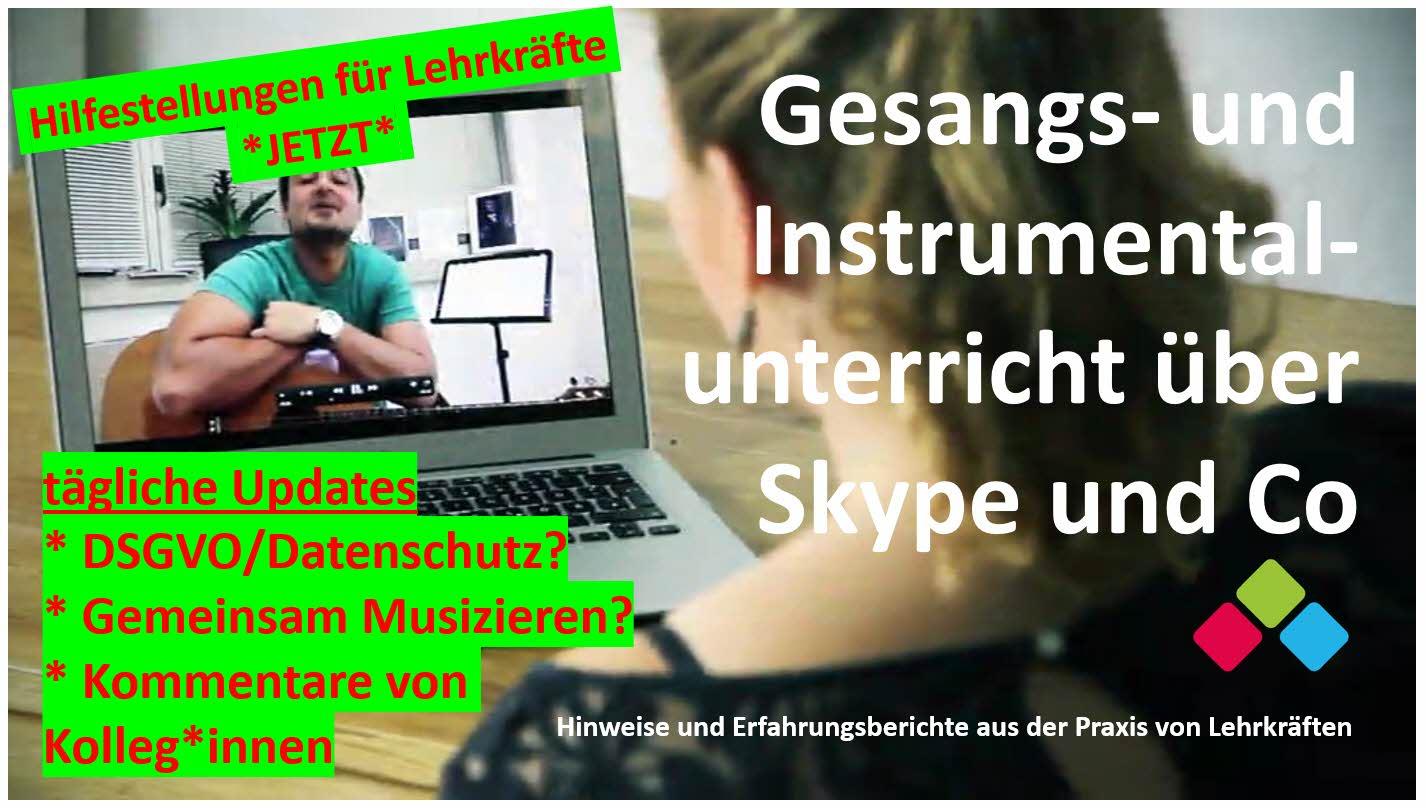 Gesangs- und Instrumentalunterricht über Skype und Co