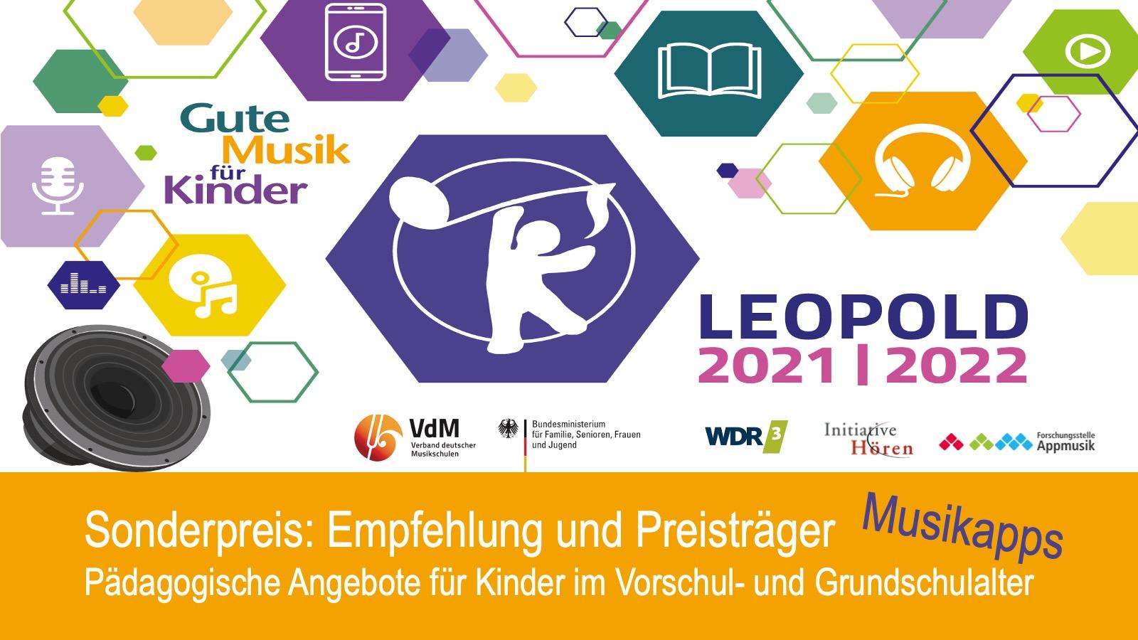 Medienpreis LEOPOLD_interaktiv 2021 – Empfohlene Musikapps für Kinder
