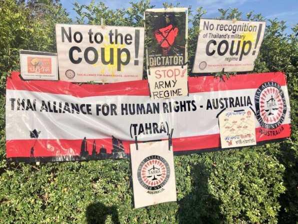 Thai Anti Junta Sydney Protest FORSEA 1