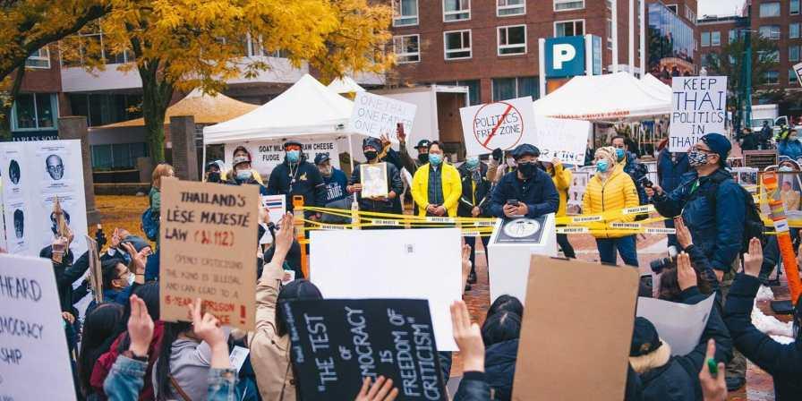 Thais protest in Boston USA FORSEA