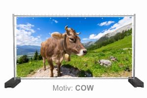Bauzaunplane Nature Style Motiv COW