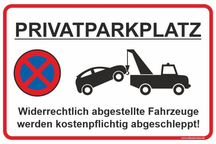 "Parkverbotsschild ""Privatparkplatz"""