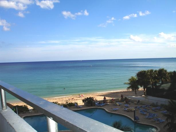 View out to the ocean from a condo in Ocean Manor