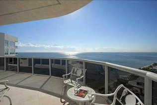 Views of one of the most expensive luxury Fort Lauderdale oceanfront condos for sale - here in L'Hermitage on Galt Ocean Mile