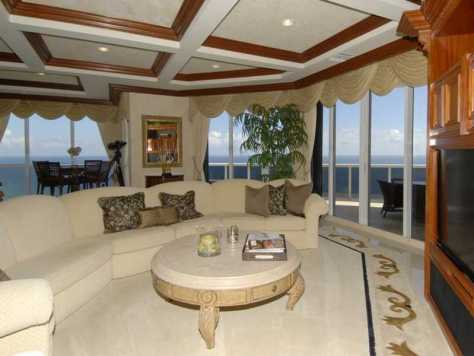 Interior of the penthouse unit for sale in L'Hermitage Ft Lauderdale