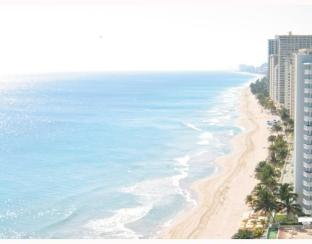 Beach and ocean views from a penthouse at The Galleon Fort Lauderdale