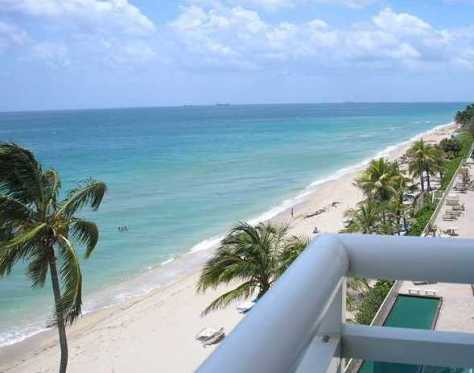 View from an oceanfront condo here in Fort Lauderdale