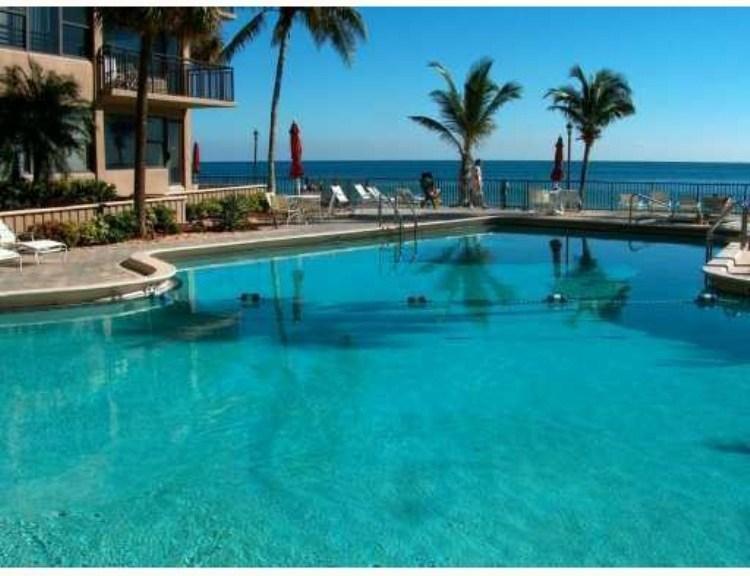 Pool view Galt Ocean Club Fort Lauderdale condos 3800 Galt Ocean Dr, Fort Lauderdale, FL