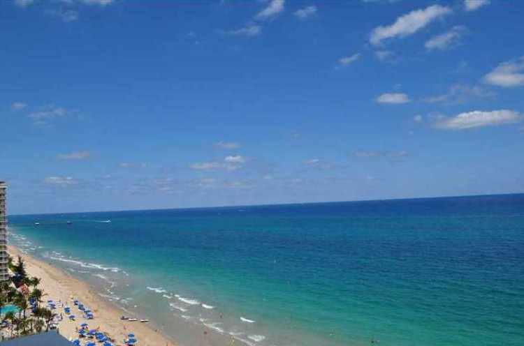 Beach views from Ocean Summit Fort Lauderdale condos for sale 4010 Galt Ocean Dr, Fort Lauderdale