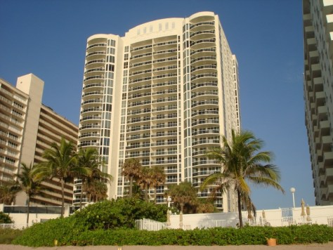 View of L'Ambiance condominium Fort Lauderdale Florida