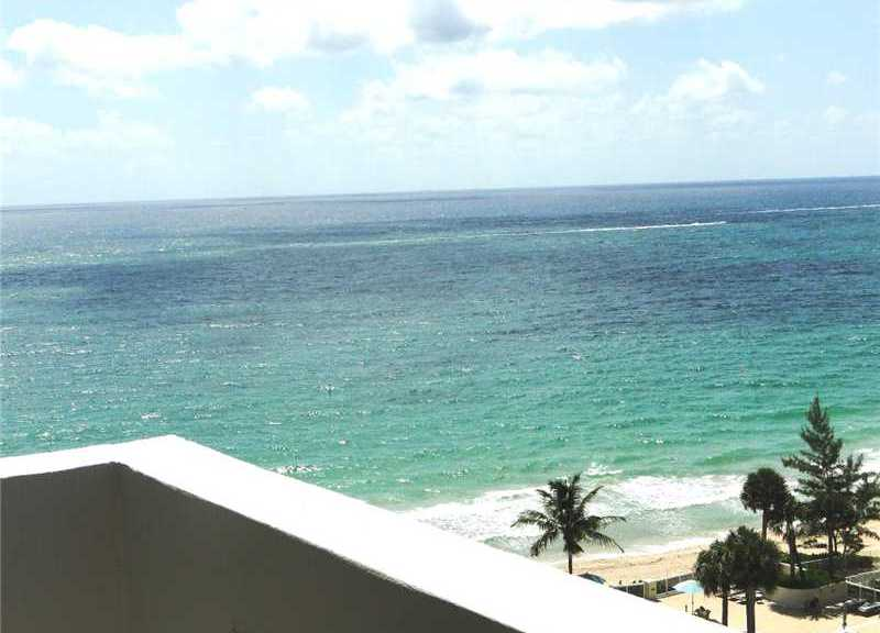 Ocean views from a condo here in Galt Towers Fort Lauderdale