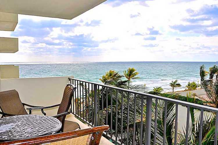 Ocean views from the terrace of a condo here in Ocean Riviera Fort Lauderdale