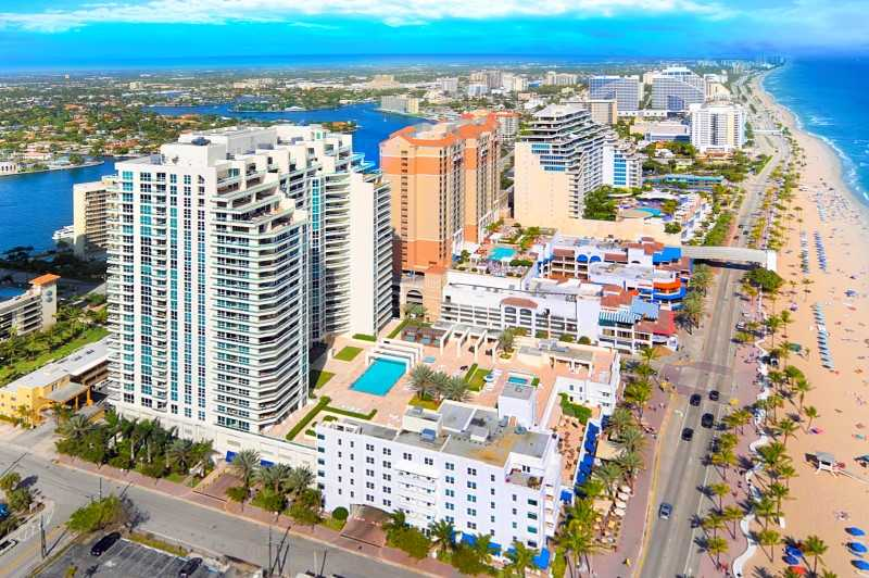 View of Fort Lauderdale Oceanfront Condos