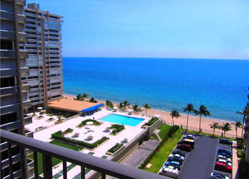 Ocean views from condos for sale in Plaza South