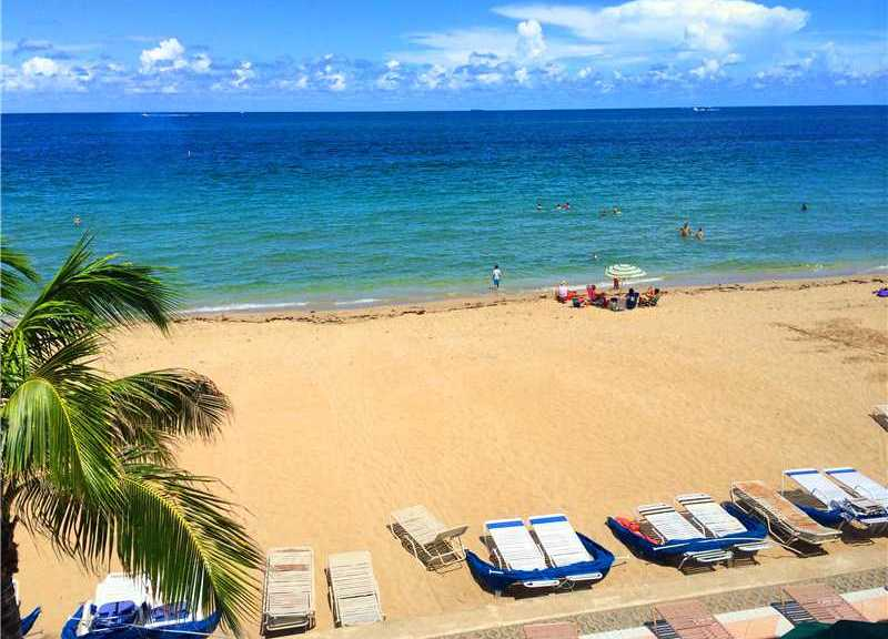 Beach views Fort Lauderdale condo for sale in Plaza South